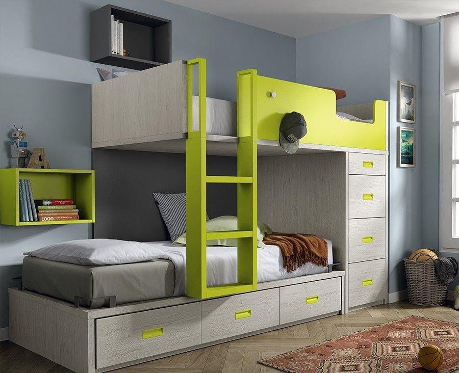 Lit superposé pour enfant avec tiroirs - Meubles Ros   Deco ... 4639054bfd5b