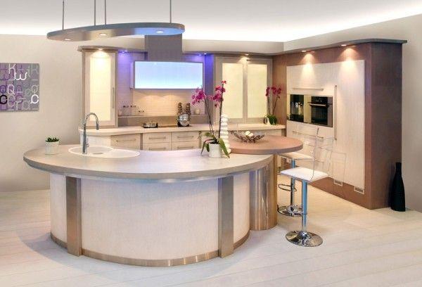 Plan de travail rond Home sweet home Pinterest Plan de travail - plan ilot central cuisine