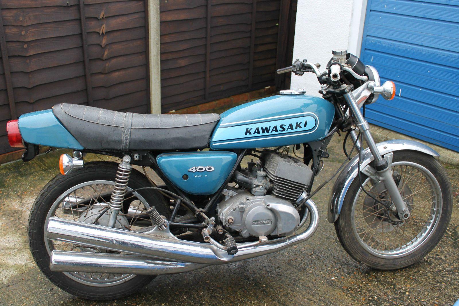 Details about 1975 Kawasaki KH400 S3 Mach II, Original 2