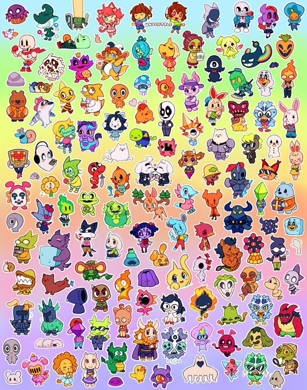 All Characters With Images Undertale Undertale Drawings
