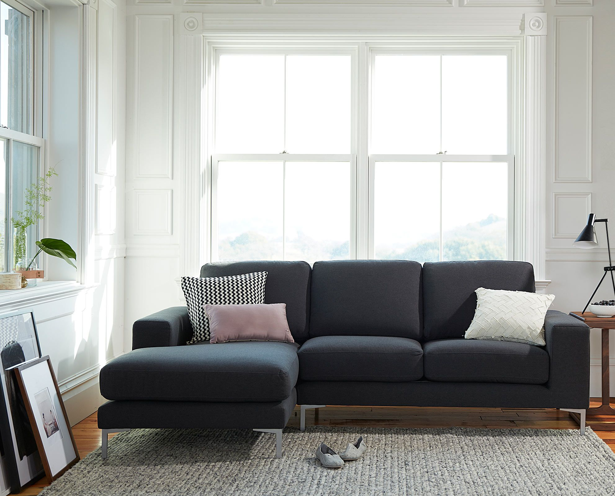 sweet well designed minimalist living room furniture | The Olaf Chaise Sectional from Scandinavian Designs ...