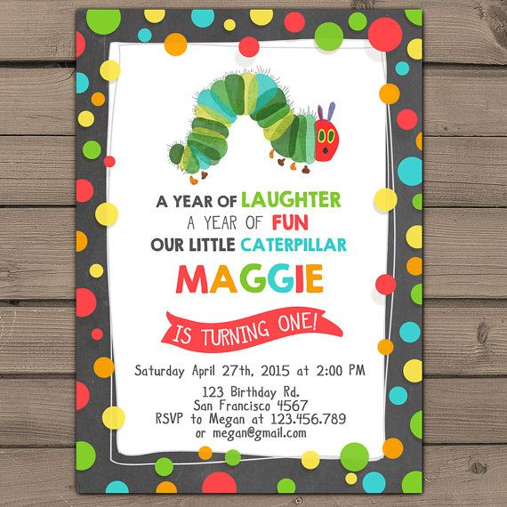 Very Hungry Caterpillar Invitation Caterpillar Invite Hungry
