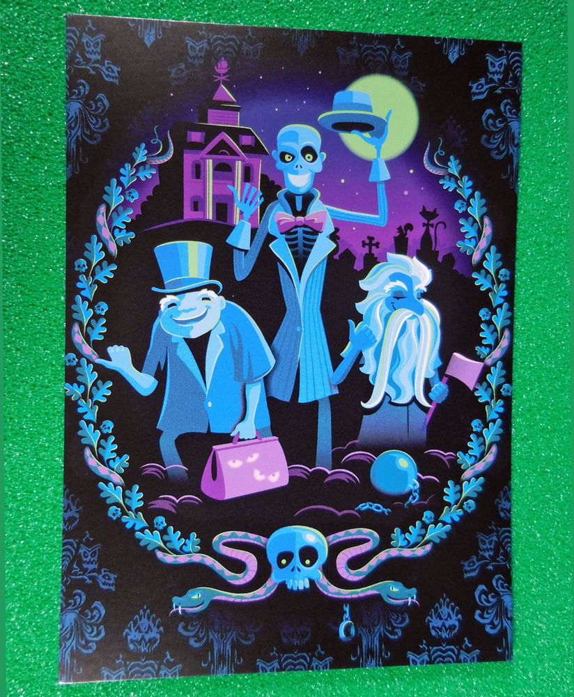 DISNEYLAND Frameable Art Postcard, HAUNTED MANSION