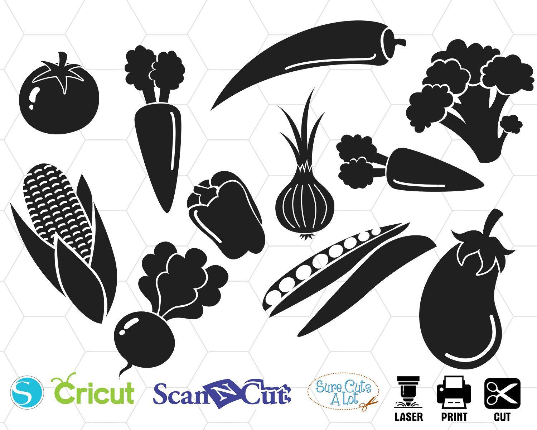 Vegetable Svg Food Svg Carrot Svg Vegan Svg Tomato Svg Etsy Clip Art Svg Cricut Svg