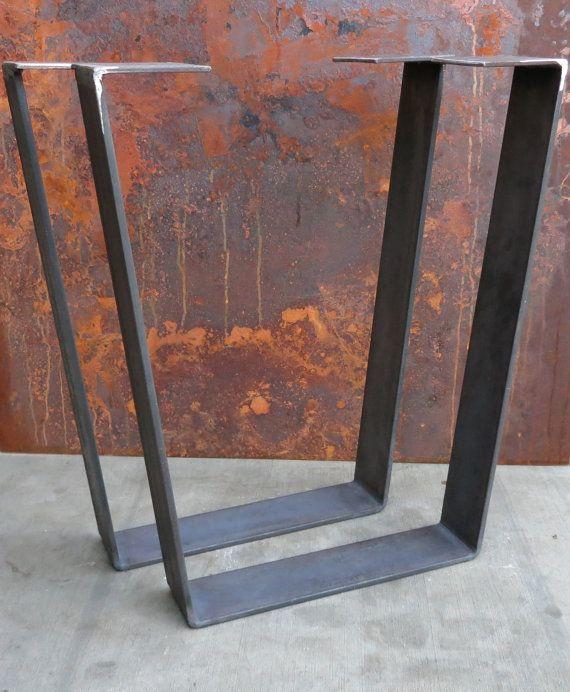 metal table legs taper thick flat bar en 2018 wood. Black Bedroom Furniture Sets. Home Design Ideas