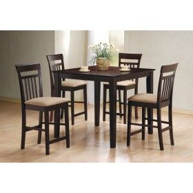 Coaster 5 piece Cappuccino Counter Height Dining Set $447.00 #ZoostoresPin2Win