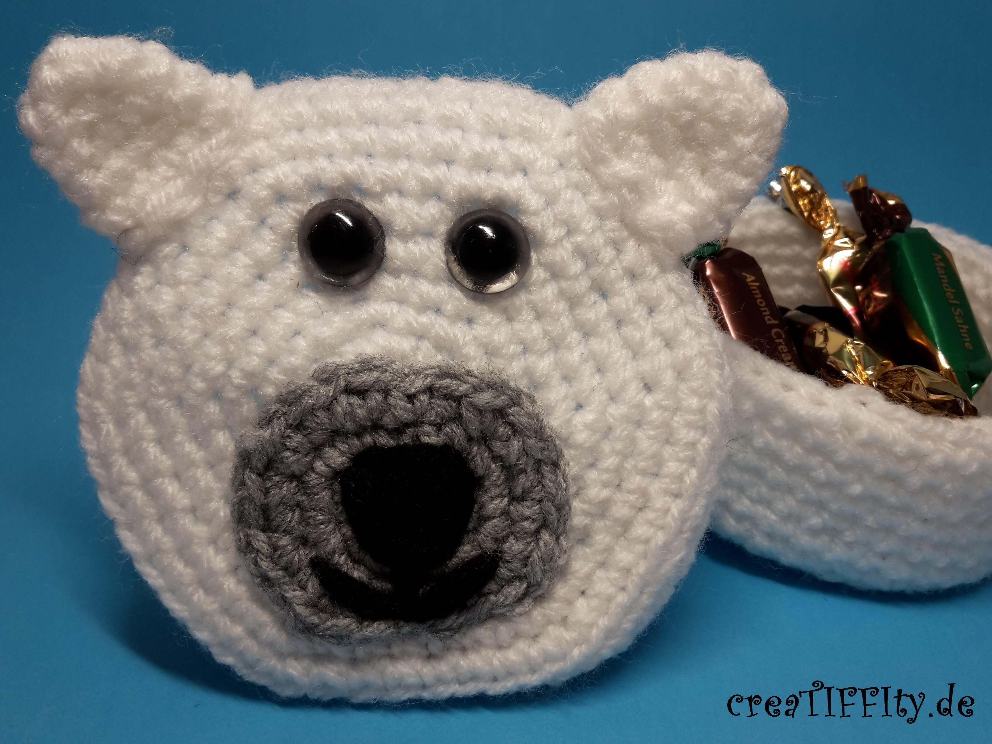 Eisbär Geschenkschachtel / Größe M – Häkelanleitung ...