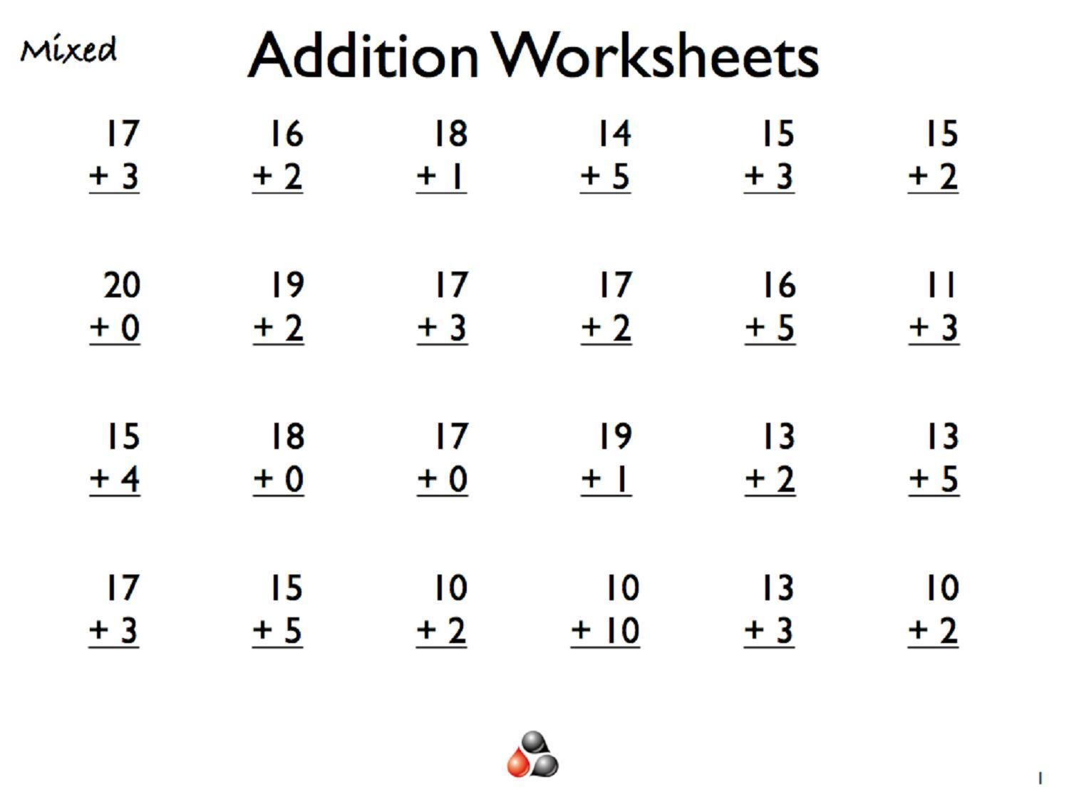 Nice Free Printable Worksheets Of Math For Grade 1 That