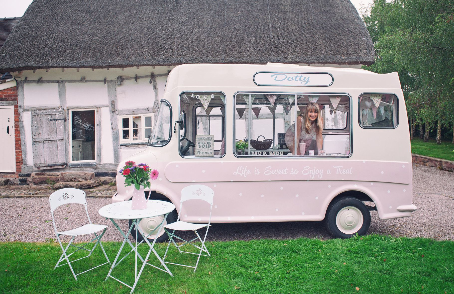 Vintage ice cream van hire wedding ice cream van hire event or festival hire
