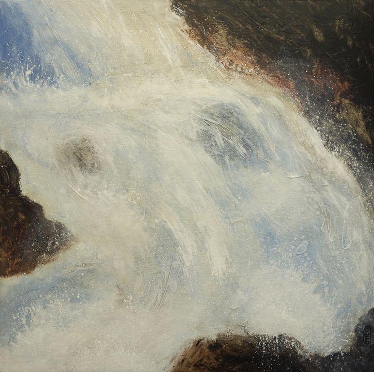 "Saatchi Art Artist: France McNeil; Acrylic 2011 Painting ""chute libre III"""