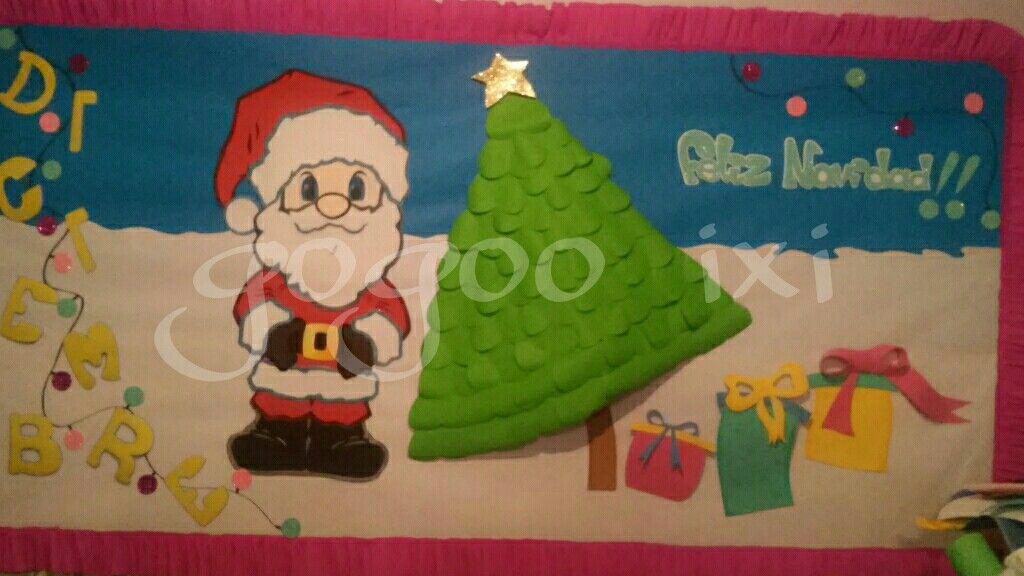 Periodico mural navide o mis trabajos pinterest - Murales decorativos de navidad ...