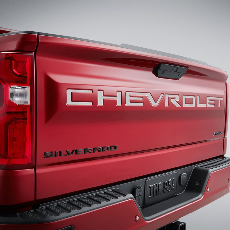 2020 Silverado 2500 Tailgate Chevrolet Lettering Decal Package Silver 84425985 In 2020 Chevrolet Silverado 2500 Chevrolet Accessories