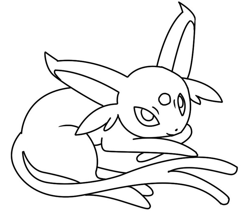 Espeon Coloring Pages To Print Free Full Size Coloring Pages For
