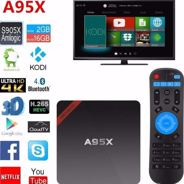A95x tv box with kodi and other apps preinstalled,H.265