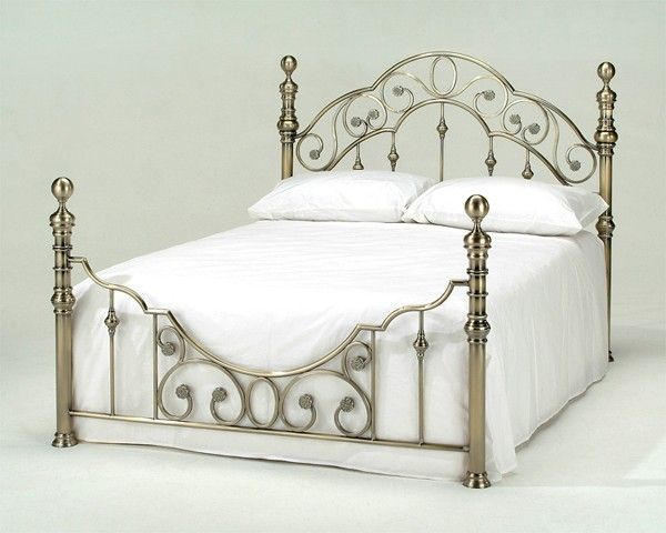 Harmony Florence Antique Brass Metal Bed Frame Brass Bed Frame