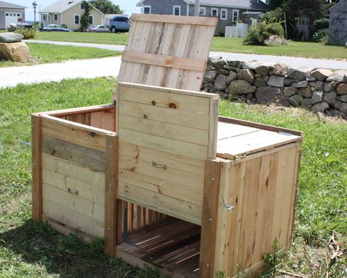 How To Build A Compost Bin From Reclaimed Wood Diy Compost