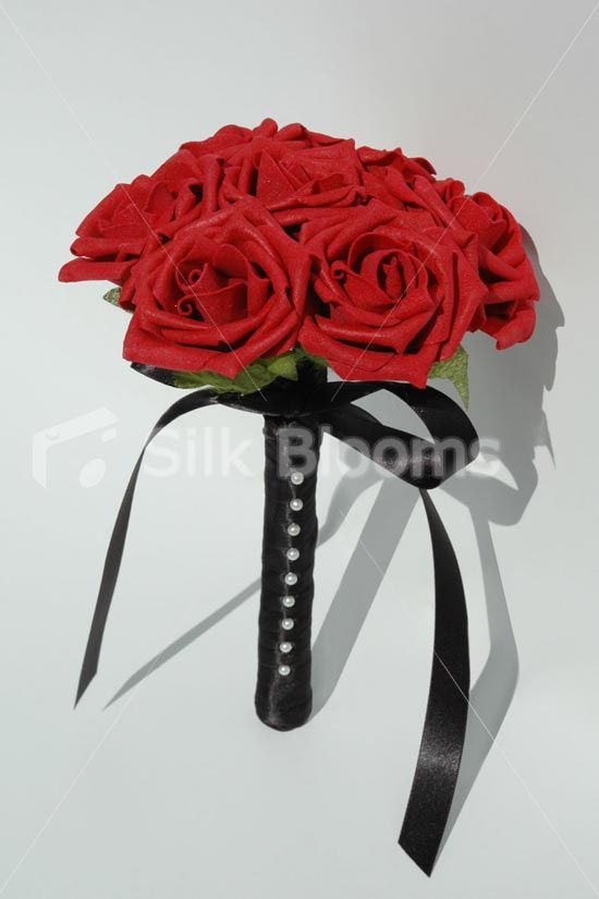 Red Roses Mini Posy Wedding Flowers W Stunning Pearl Pins