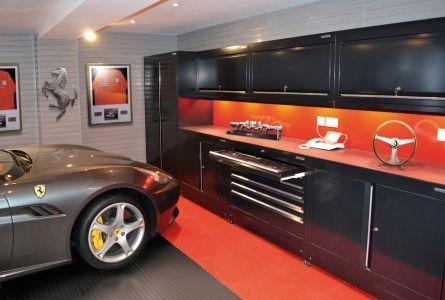 Ferrari Enthusiasts Garage Garage Design Home Workshop Garage