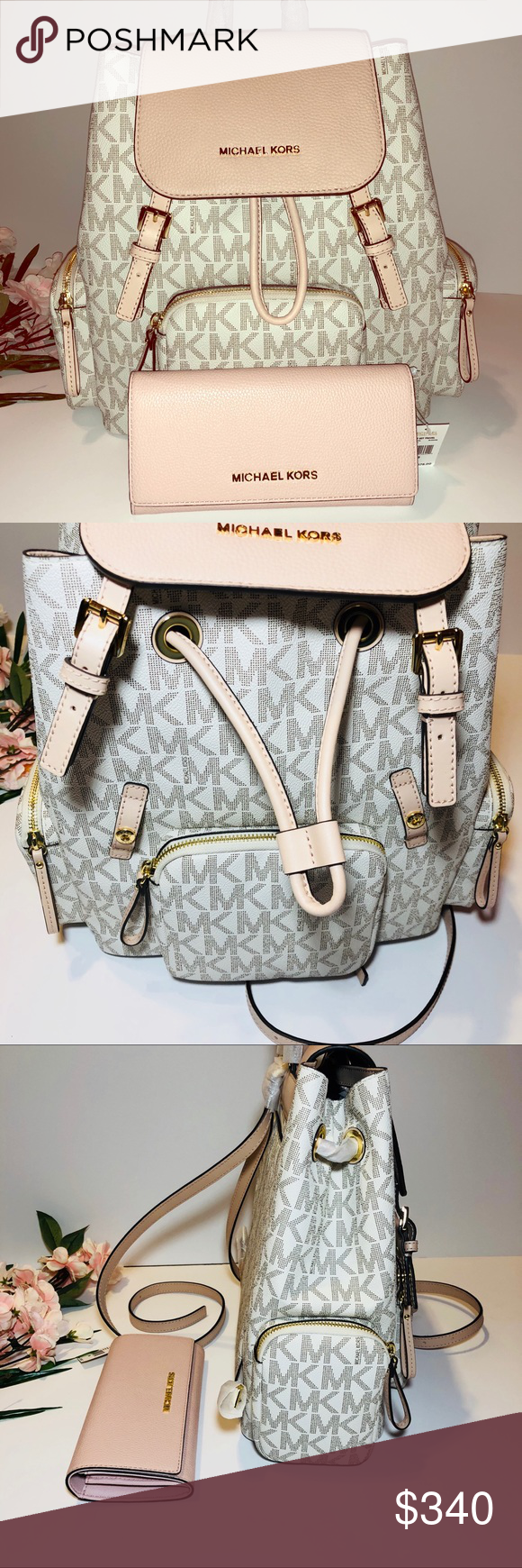 9e4eca0f78f7 NEW Michael Kors Abbey Cargo Backpack & Wallet Brand New Unique Michael  Kors Abbey Large Cargo Backpack Bag, Item comes brand new with tags!