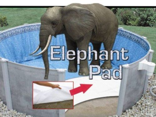 24 Ft Round Pool Liner Pad Elephant Guard Armor Shield Padding