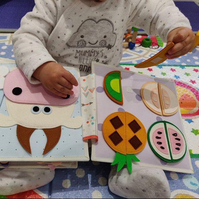 Livre en tissu bébé enfants Jouets pour cadeaux de Noël Doux Apprentissage Infant