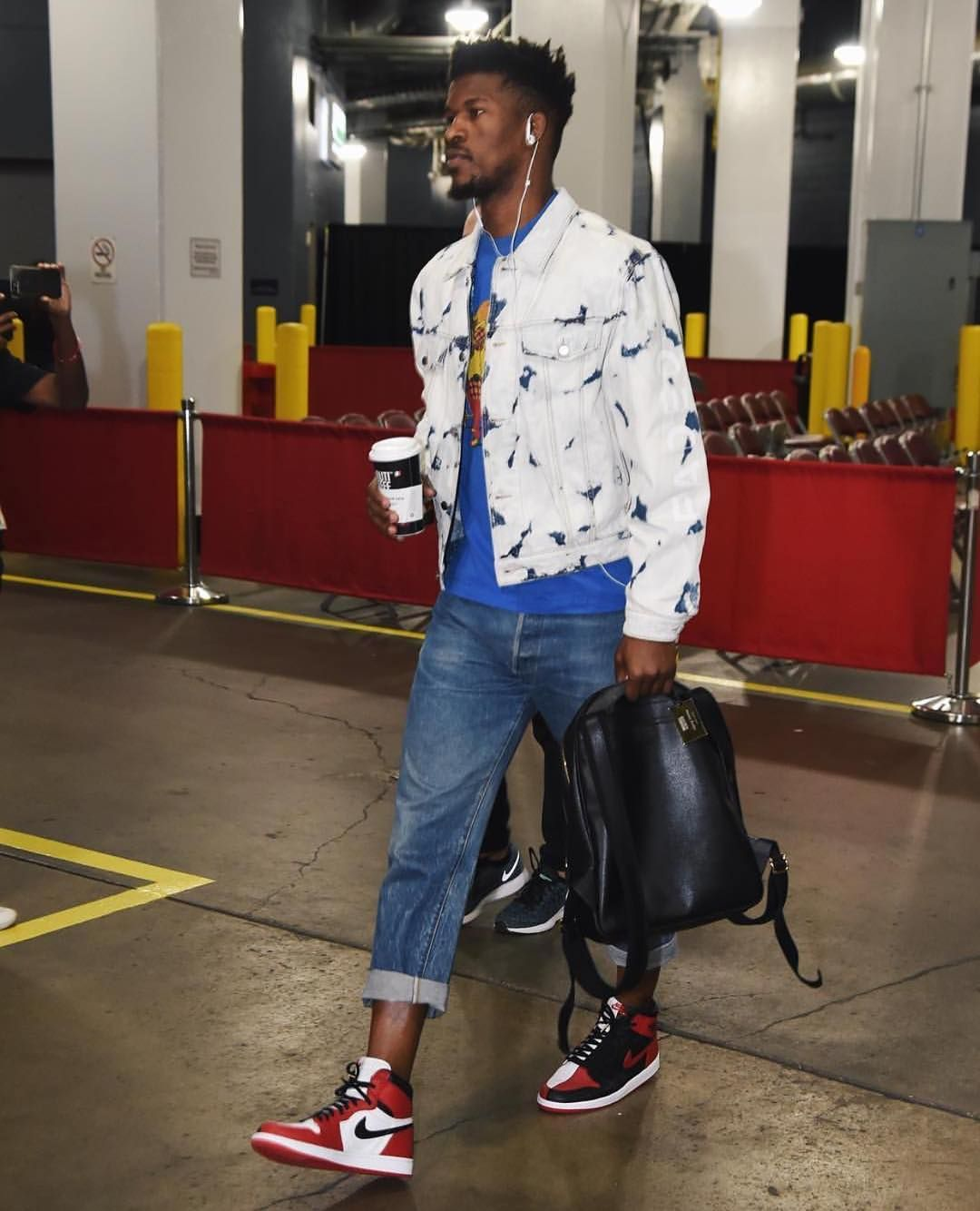 "Jimmy Butler in the ""Homage to Home"" Air Jordan 1."
