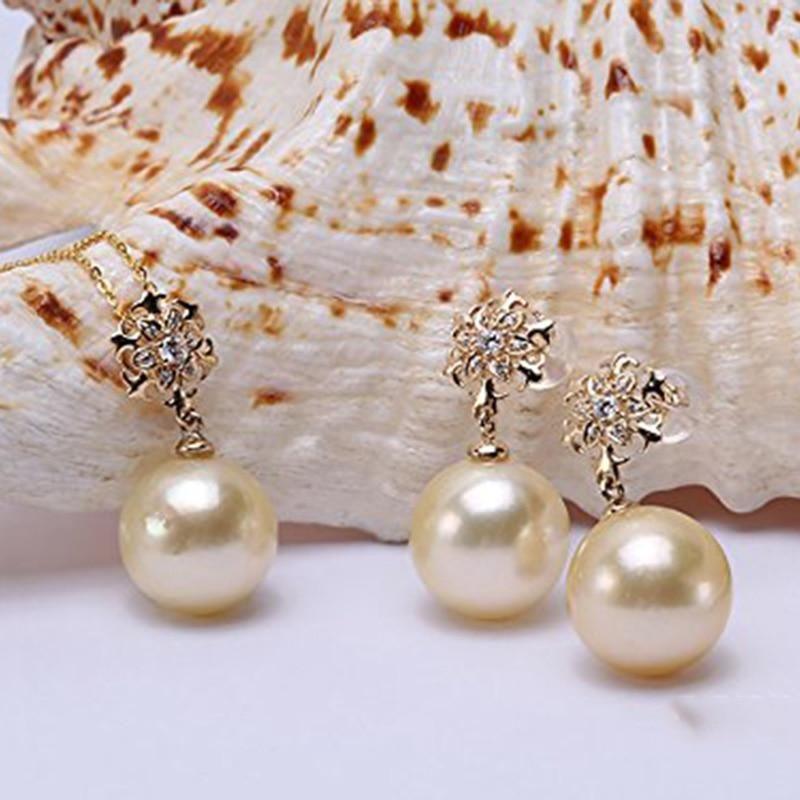 b422e702fd9ea JYX Elegant Jewelry Set AAA 14K Gold Classic Golden natural South ...