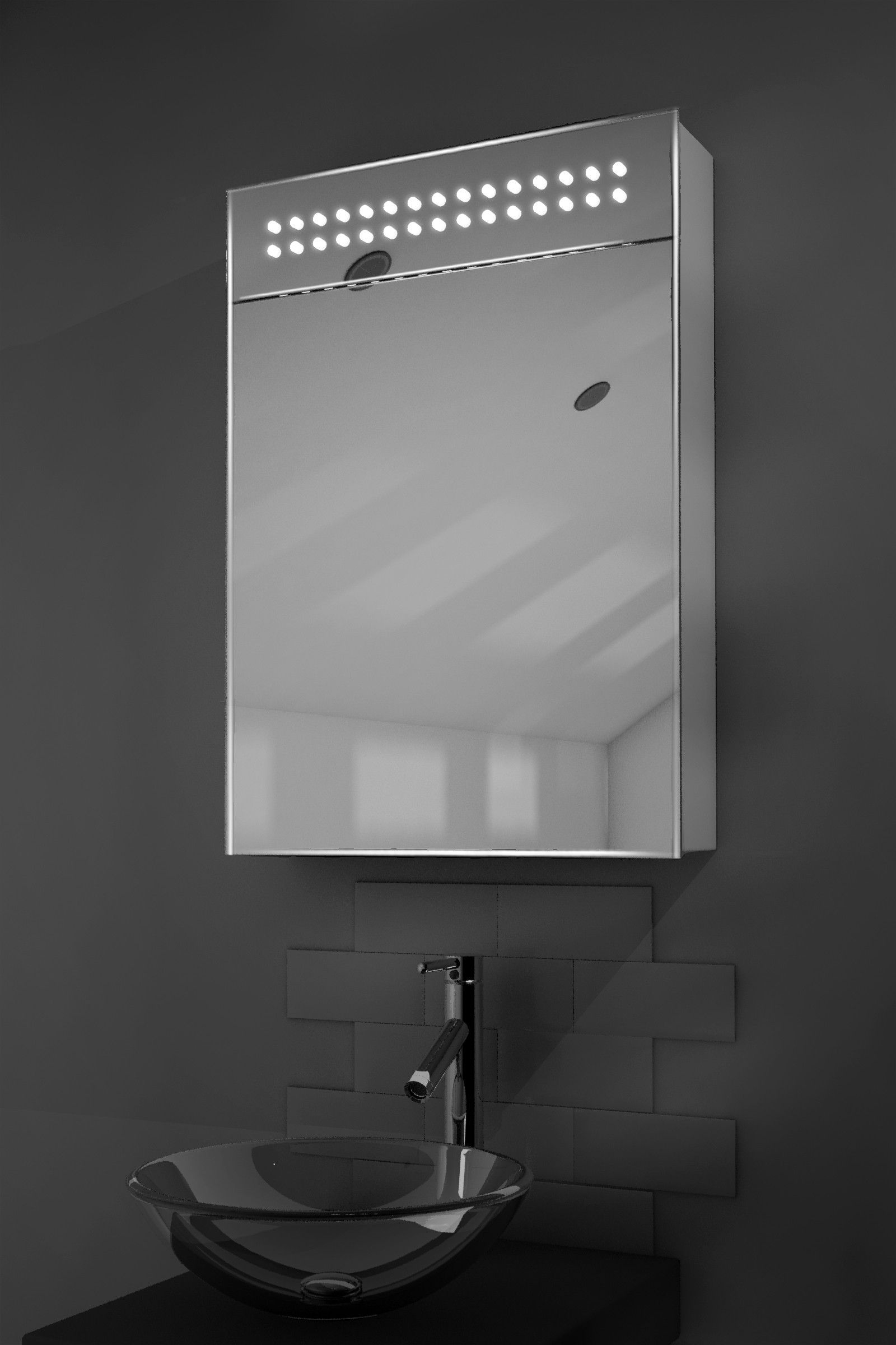 Vania Led Sensor Cabinet Bathroom Mirror Mirror Cabinets Bathroom Mirror Cabinet