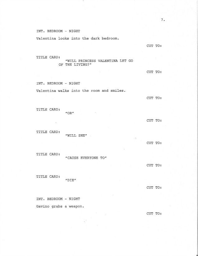 page 7 of royal love story from the grave sample screenplay