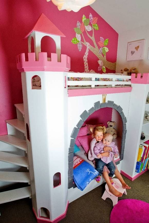 Diy Princess Bedroom Princess Bed Homemade Home Princess Bedrooms Kid Beds Cool Beds For Kids Kids Bedroom