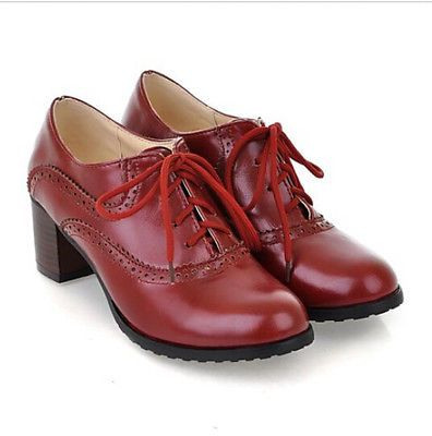 1ca9355091 Picture 15 of 15 Oxford Brogues, Oxford Heels, Women's Lace Up Oxfords, Lace