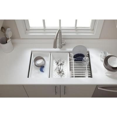 KOHLER Prolific Undermount Stainless Steel 33 In. 0 Hole Single Bowl  Kitchen Sink K 5540 NA   The Home Depot