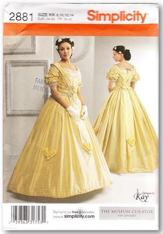 Simplicity 2881 Misses\' Civil War Costume Pattern, 8-14