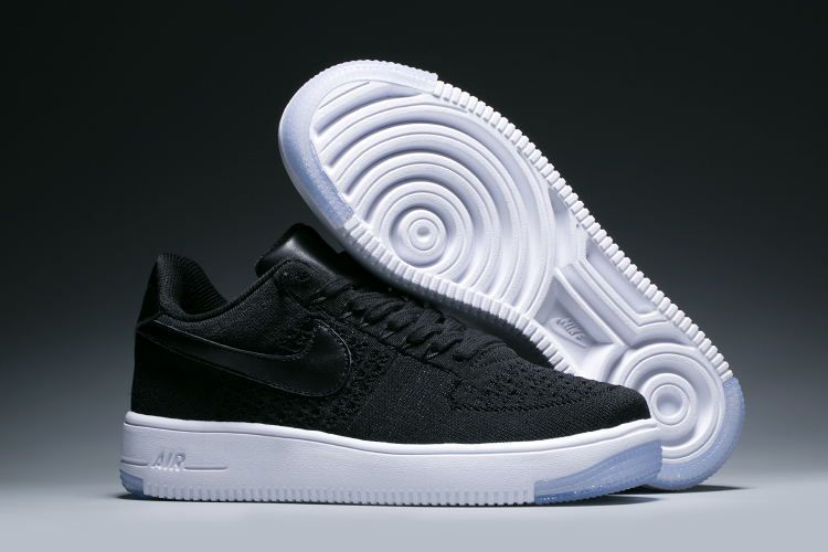 Nike Air Force 1 Ultra flyknit Low Women s Shoes Black White ... 39eb149652