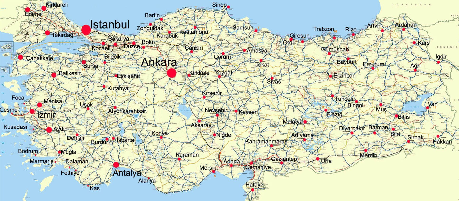 Turkey Map Harita Turkiye