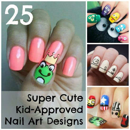 25 Super Cute Kid Approved Nail Art Designs Kid Nails Kid Nail