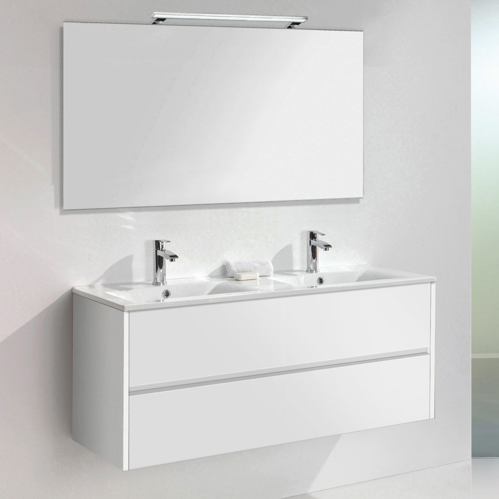 Peachy Daugava 3 Piece Bathroom Furniture Set With Led Mirror In Complete Home Design Collection Papxelindsey Bellcom