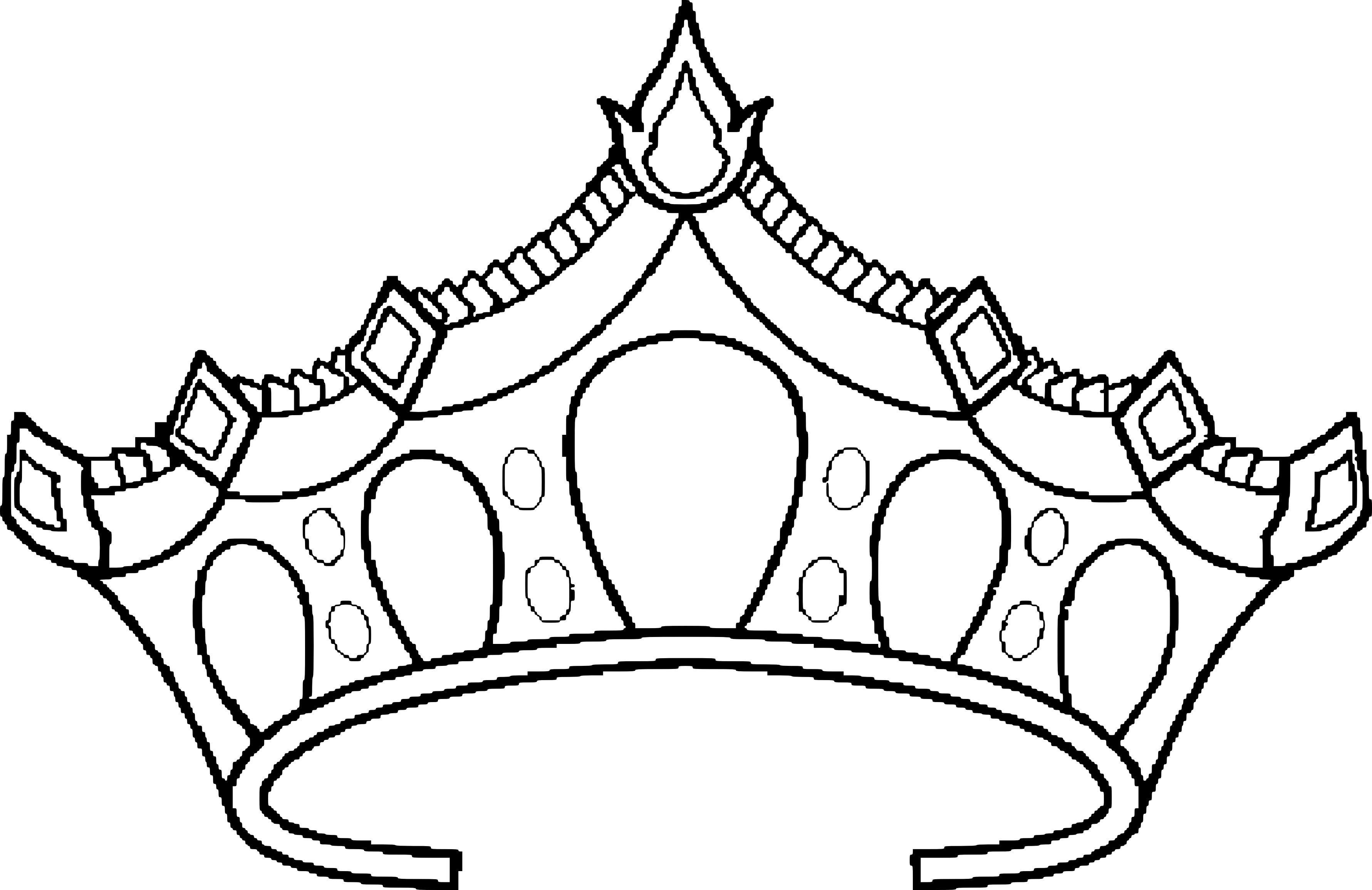 51 Coloriage Pour Fille A Imprimer Princesse In 2020 Coloring Pages Princess Crown Drawing Tiara Drawing