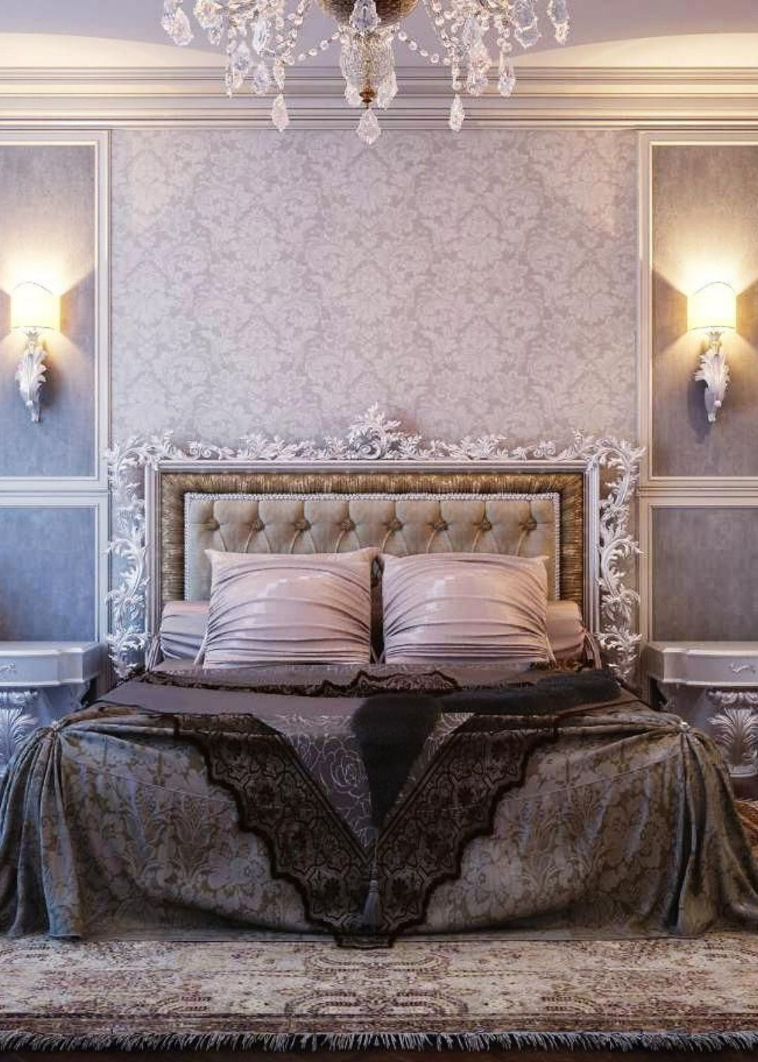 artistic cheap bedroom furniture. Glamorous Gray Bedroom Furniture Design Ideas With Artistic Headboard Silver Frame And Gold Accent Cheap