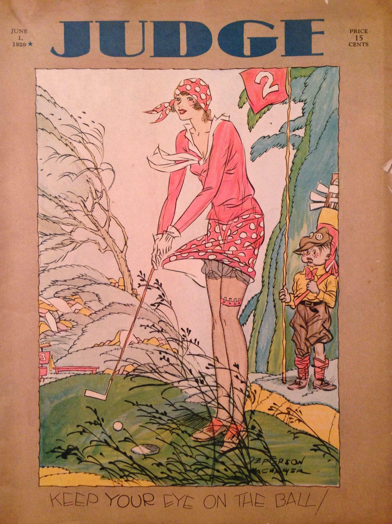 Judge Magazine June 1929 Lady Golfer Cover