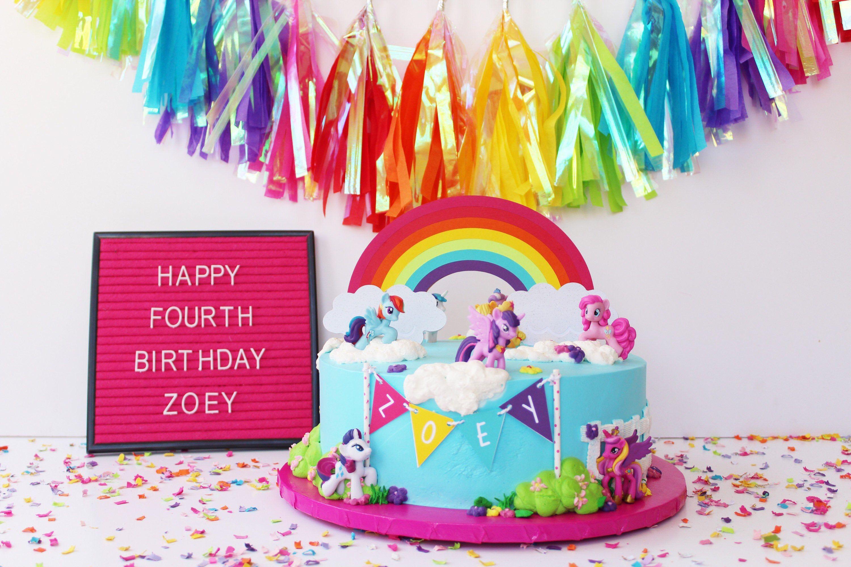 Rainbow Cake Topper