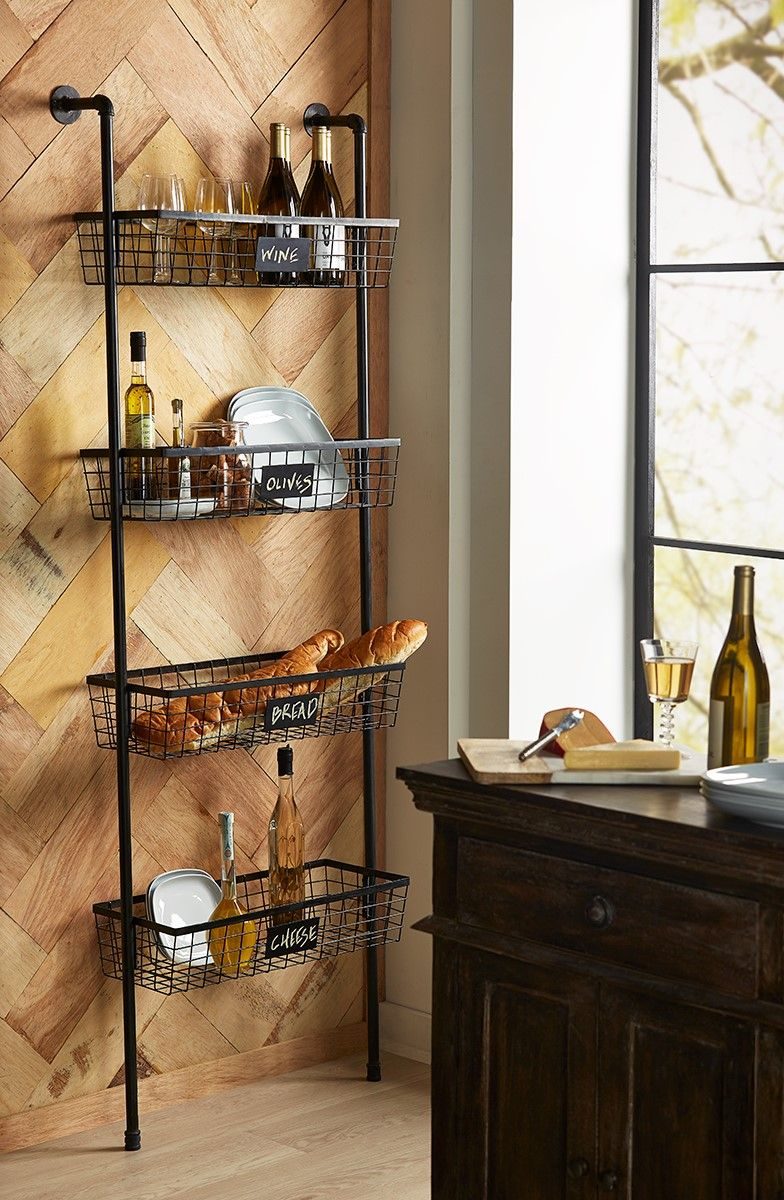 Truman 4 Basket Wall Shelf Wall Shelves Baskets On Wall Shelves