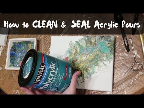 (52) How to Clean & Seal Acrylic Pours both on Canvas