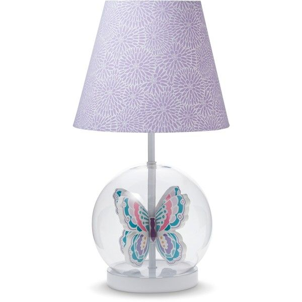 Circo Butterfly Lamp 36 Liked On Polyvore Featuring Home Lighting Table Lamps Butterfly Lamp Colored Lamps Ci Butterfly Lamp Lamp Light Pink Bedrooms
