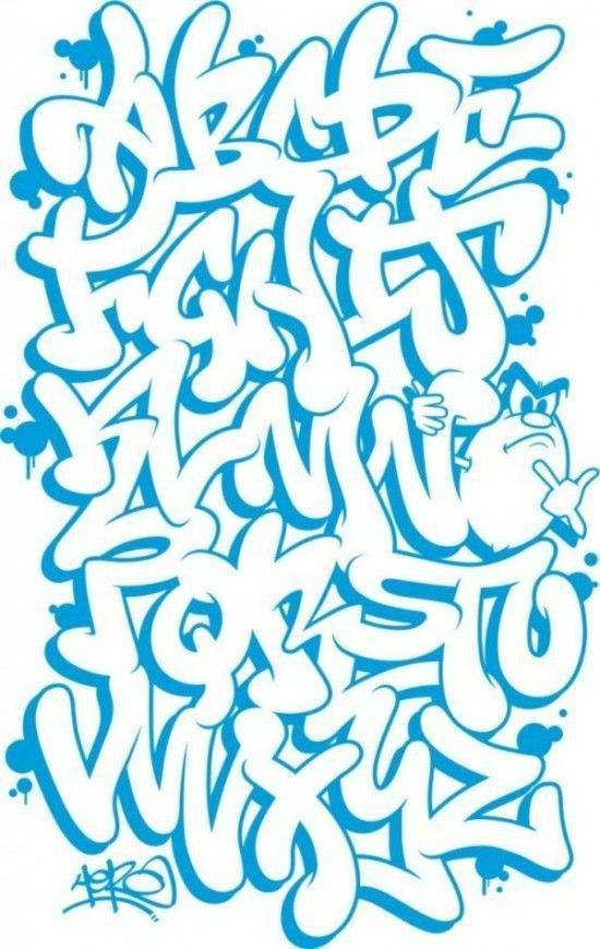 Dibujar Abecedario O Letras En Graffiti Letras Graffiti Tipos De Letras Graffiti Alfabeto De Grafiti