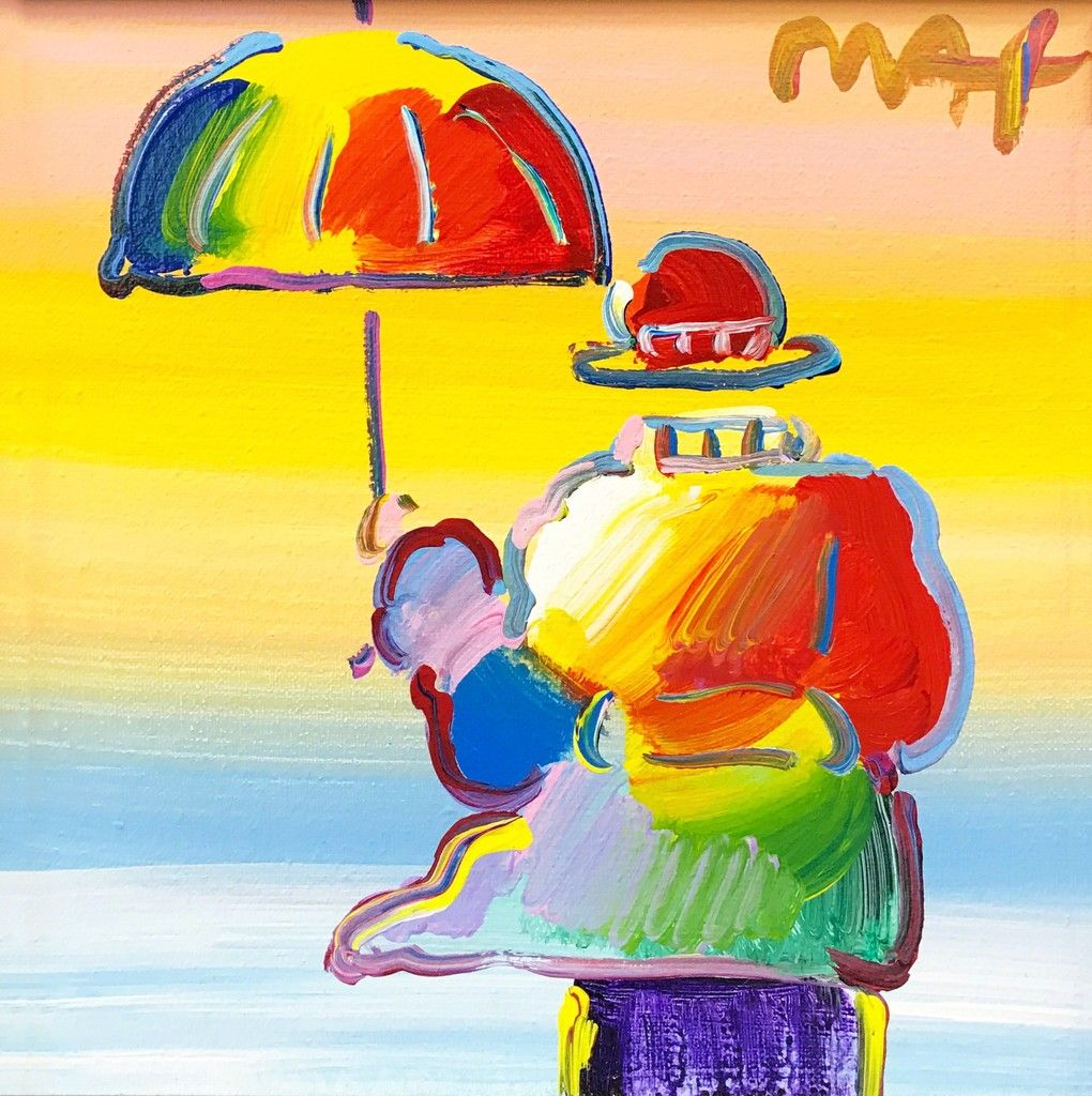 Peter Max UMBRELLA MAN (2013) Available Lienzos