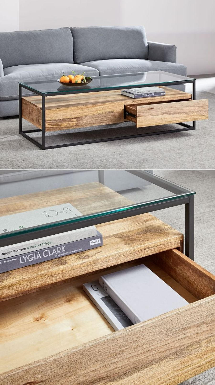 Box Frame Storage Coffee Table In 2020 Coffee Table With Storage Coffee Table Cool Coffee Tables [ jpg ]