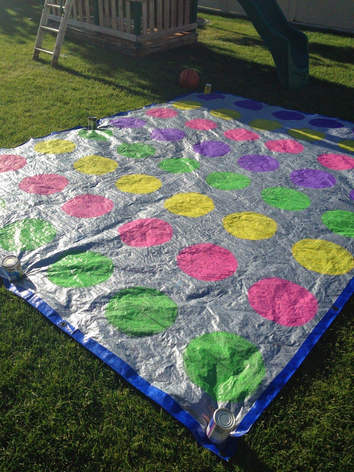 Diy Giant Yard Twister Game With Shaving Cream Springfest Yard