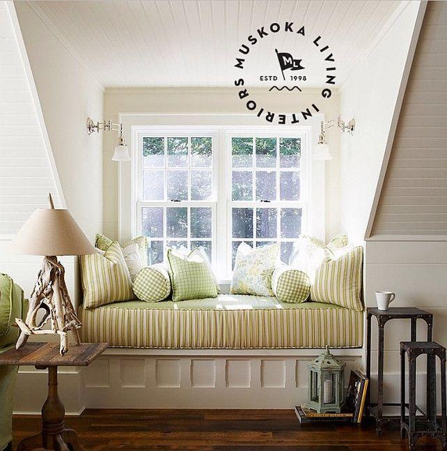 "Interior Design Window coastal muskoka living interior design ideas - ""plushy window seat"