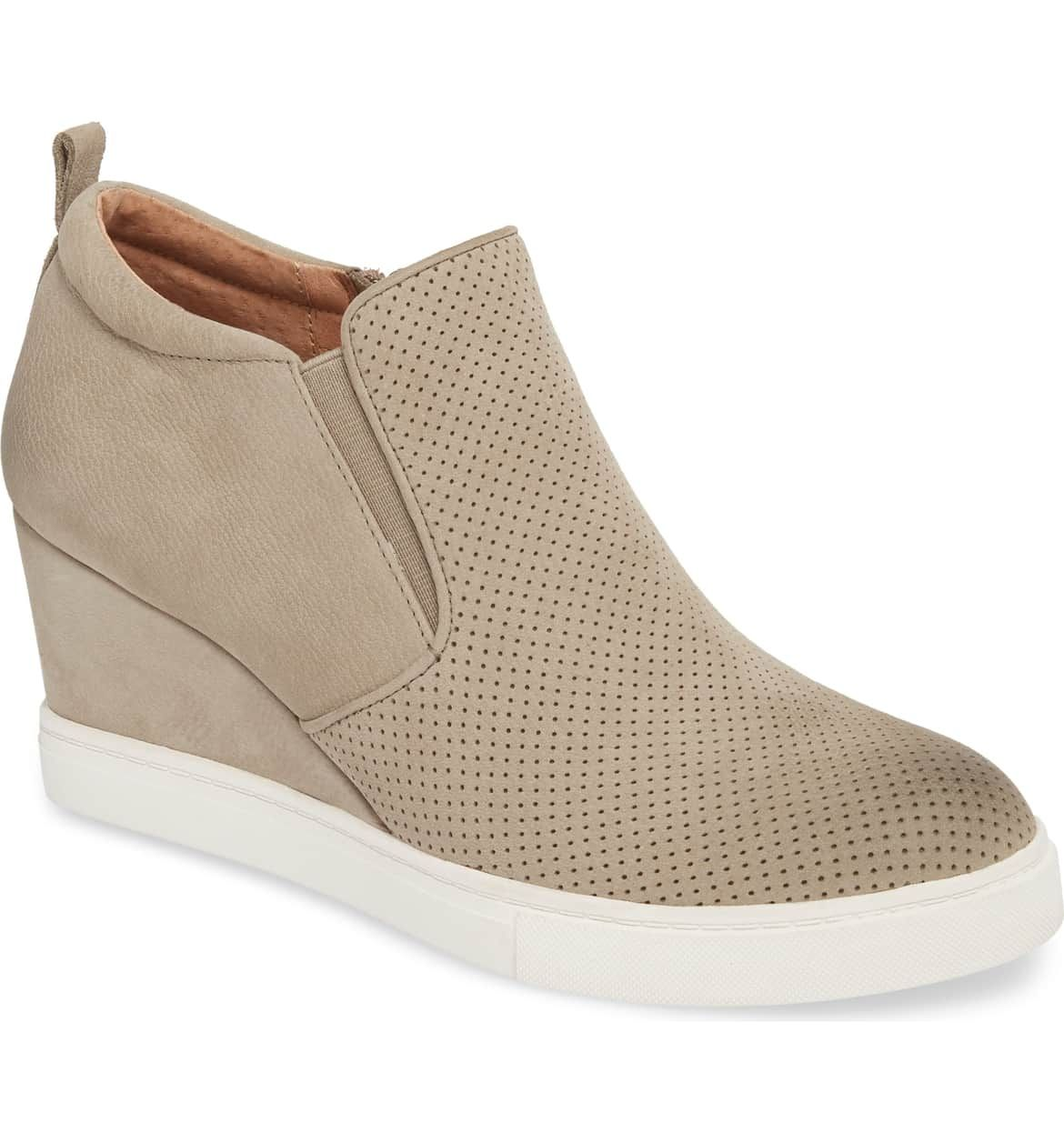 1afab42d1b5 Caslon Aiden Wedge Sneaker, Main, color, Taupe Perforated Leather ...